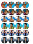 24 Tom Daley Edible Wafer Rice Cup Cake Toppers